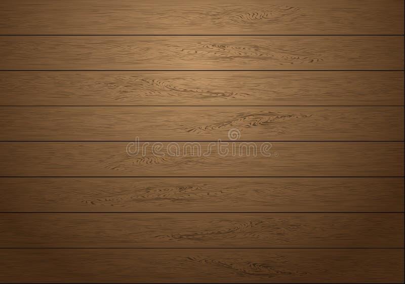 与昏暗的轻的背景纹理传染媒介的现实棕色木板条样式 皇族释放例证