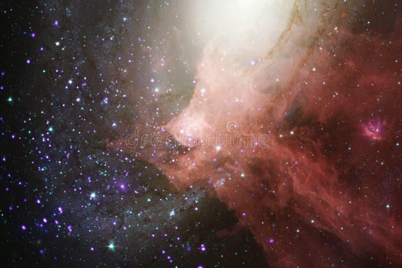 与星云、stardust和明亮的星的美好的星系背景 向量例证