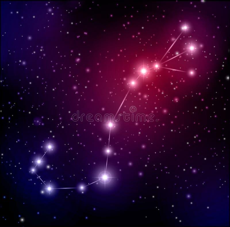 与星和天蝎座空间的星座背景水瓶座记忆力好图片
