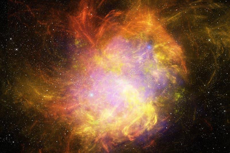 与星和星云的充满活力的夜空 库存例证