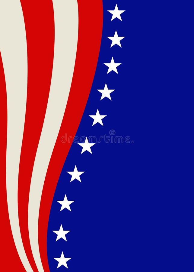 与星和英雄的爱国框架设计 库存图片
