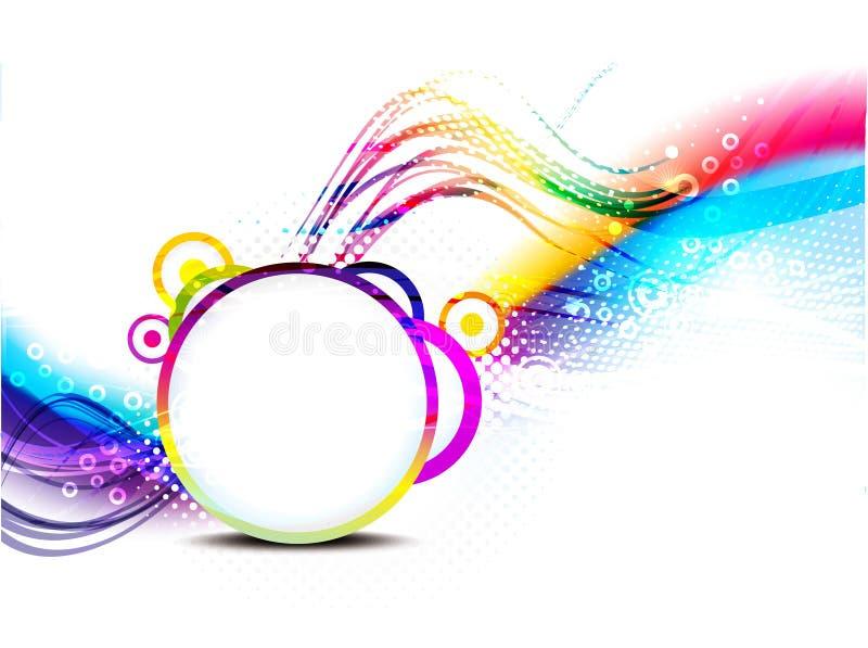 与星形的五颜六色的通知背景 库存例证