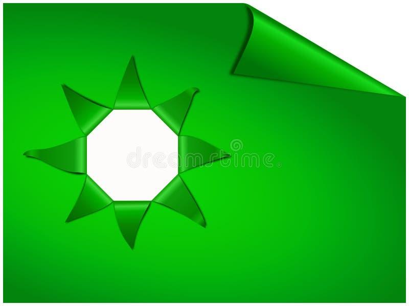 与星形的被剥去的小条和地方的绿皮书文本的 向量例证