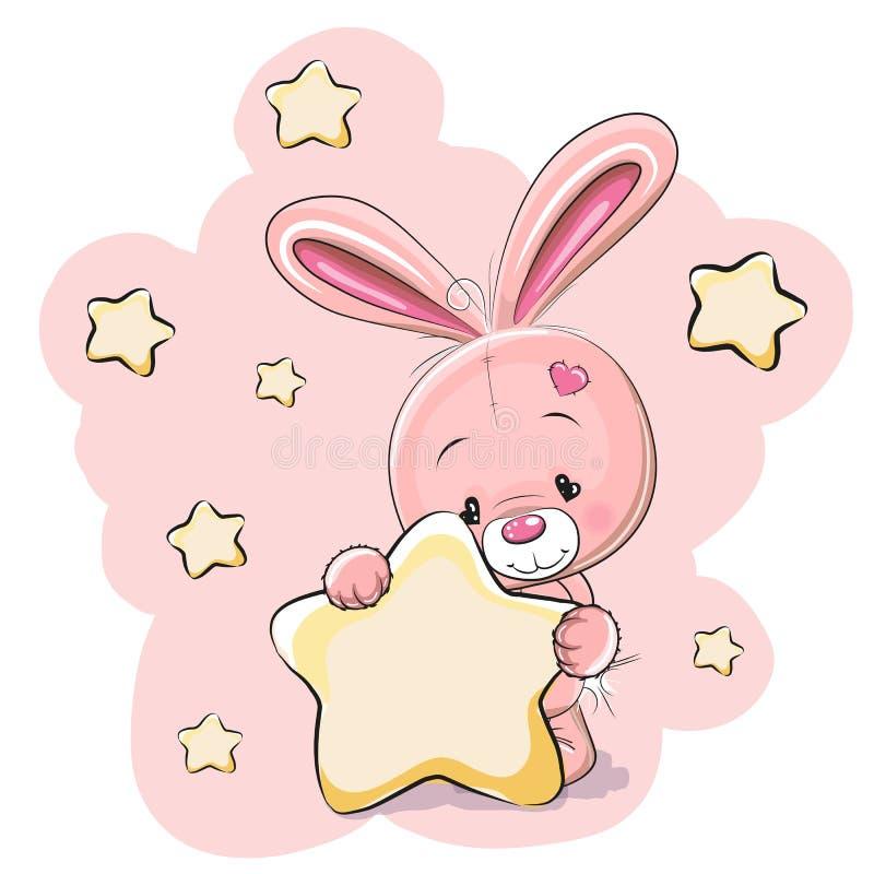 与星的兔子 向量例证