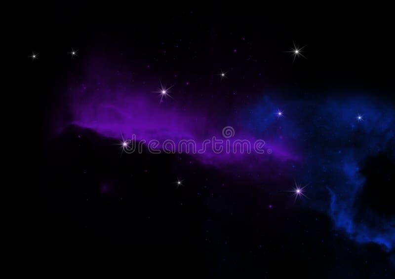 与星的抽象夜星系 皇族释放例证