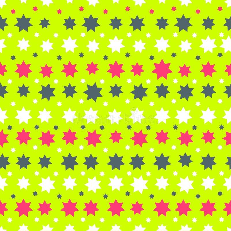 与星的抽象无缝的样式 皇族释放例证