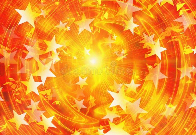 与星的明亮的爆炸闪光 皇族释放例证