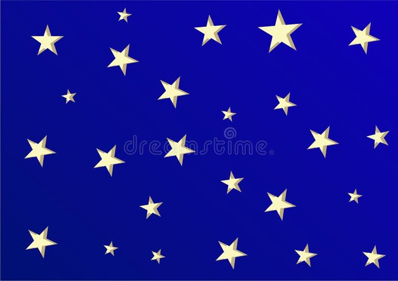 与星的明亮的背景任何的打印 库存图片