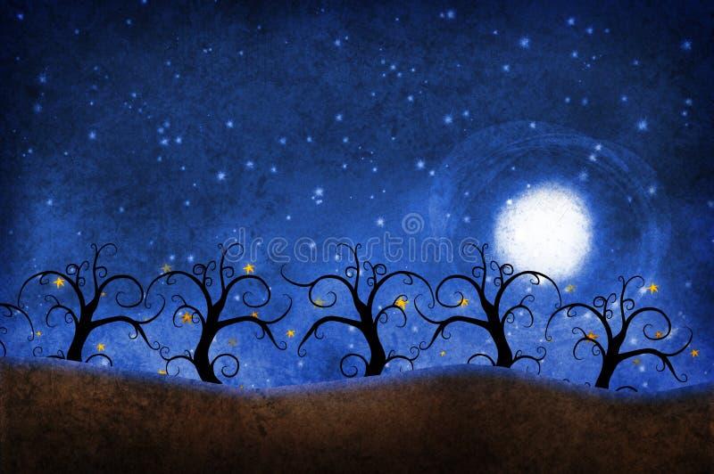 与星的树 库存例证