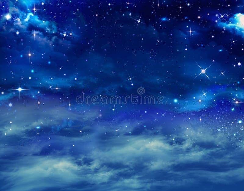 与星的每夜的天空 免版税库存照片