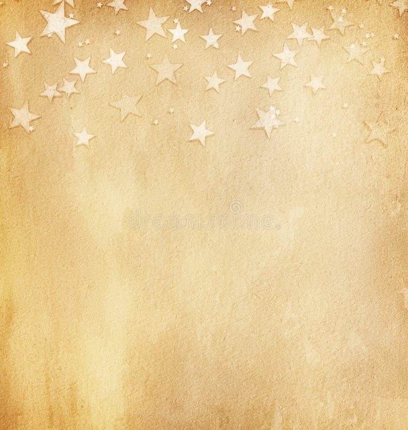 与星的葡萄酒纸 库存照片