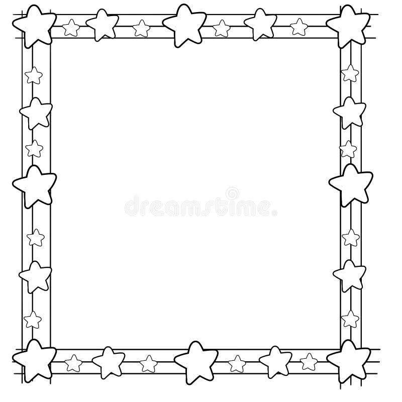 与星的装饰框架边界在弦 皇族释放例证