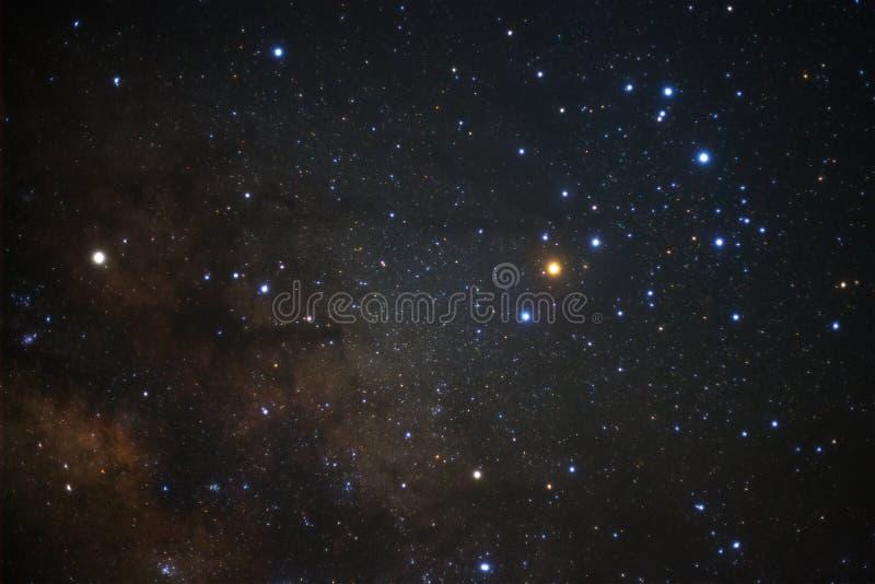 与星的银河星系和空间在宇宙拂去灰尘 库存照片