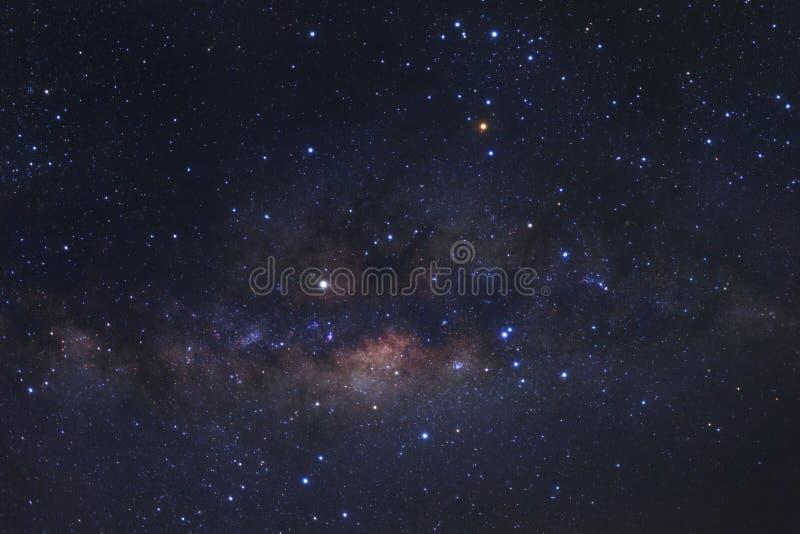 与星的银河星系和空间在宇宙,上流拂去灰尘 库存照片
