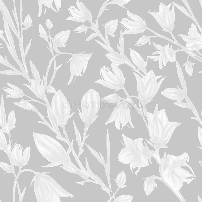 与春天花和叶子的无缝的样式 o 墙纸或织品的花卉样式 ? 向量例证