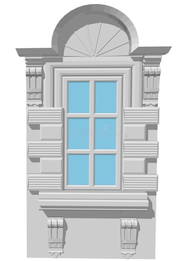 与曲拱的窗口 皇族释放例证