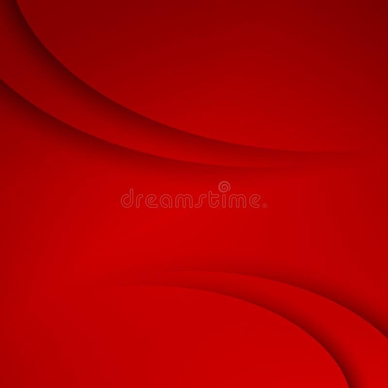 与曲线线的红色传染媒介摘要背景 库存例证