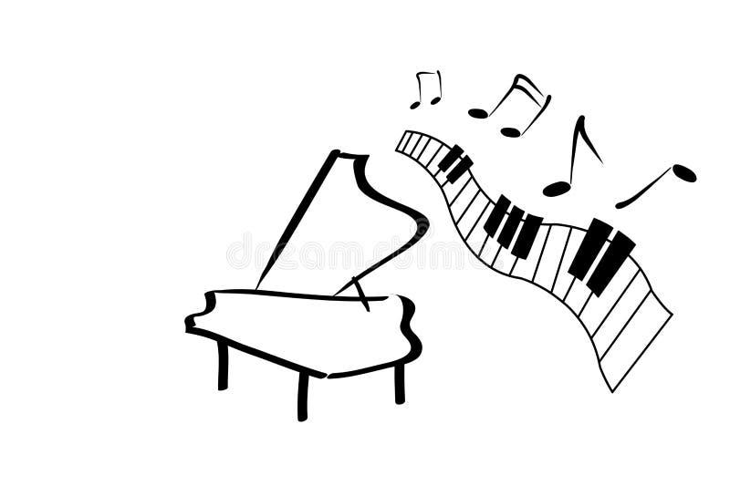 与曲调的钢琴 向量例证
