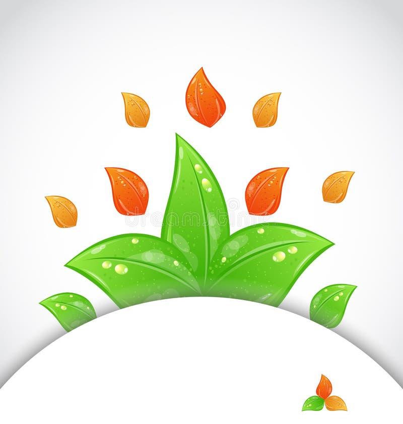 与更改的叶子的秋天背景 库存例证