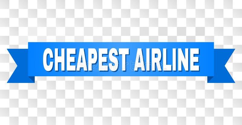 与最便宜的航空公司标题的蓝色条纹 皇族释放例证