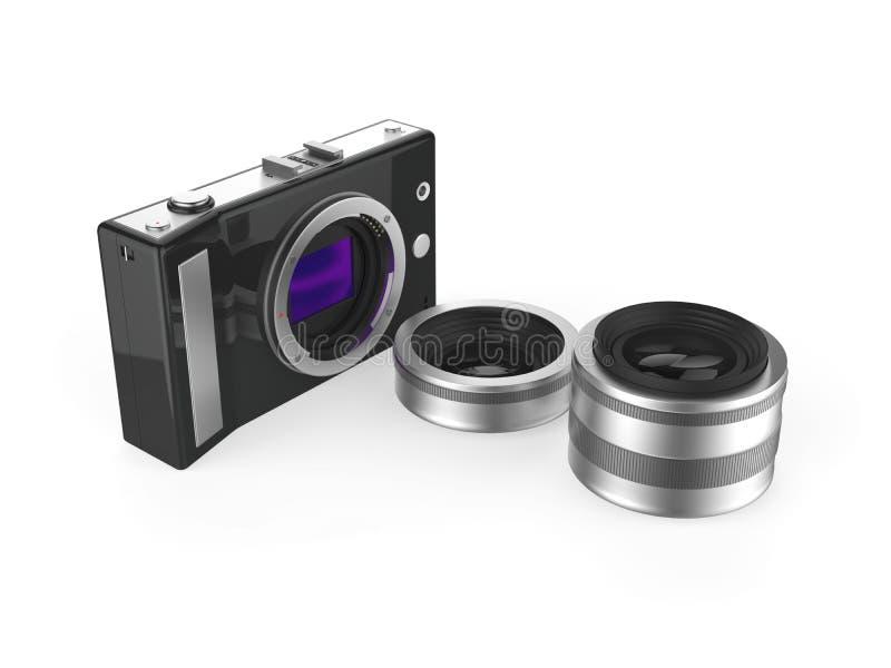 照相机和透镜 向量例证