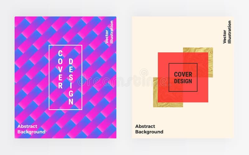 与最小的抽象设计的盖子五颜六色的模板 海报的背景,卡片,横幅,时尚,小册子,飞行物 皇族释放例证