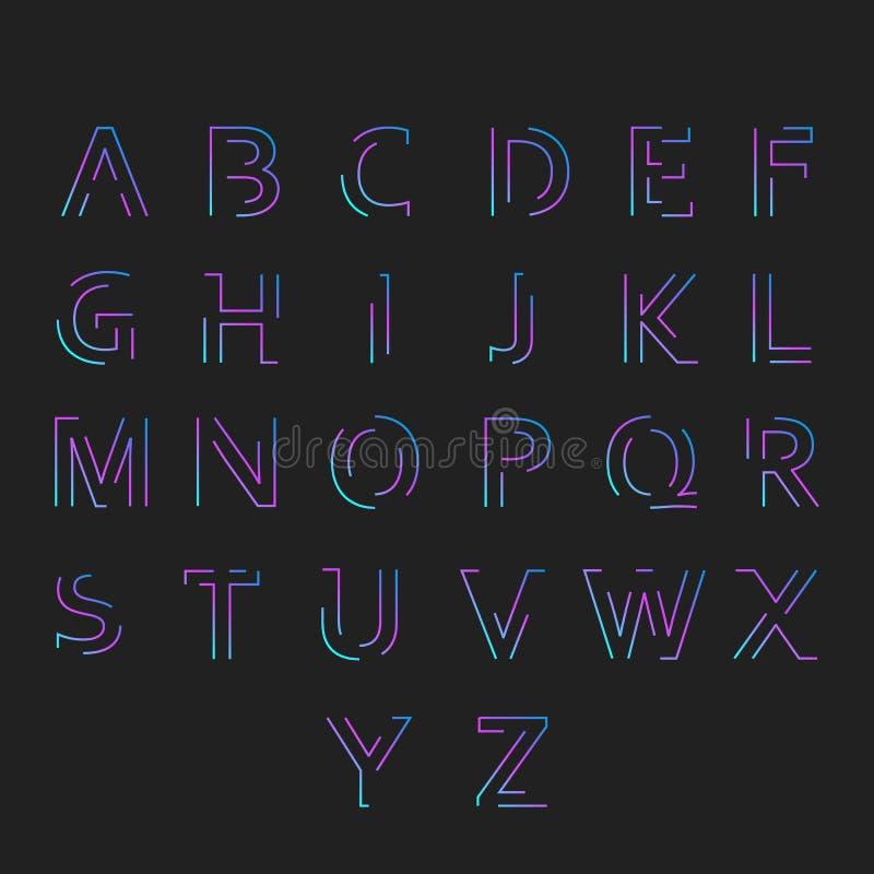 与最小的设计的字体 库存例证
