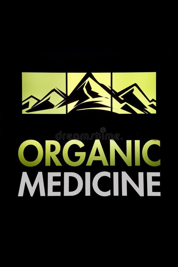 与有机大麻医学的山 图库摄影