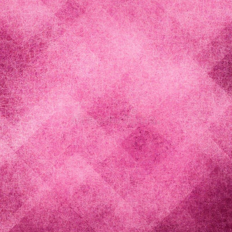 与有角度的方形块和菱形任意样式的抽象桃红色背景 皇族释放例证