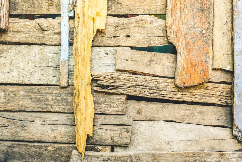 与木样式摘要的褴褛的木背景 图库摄影
