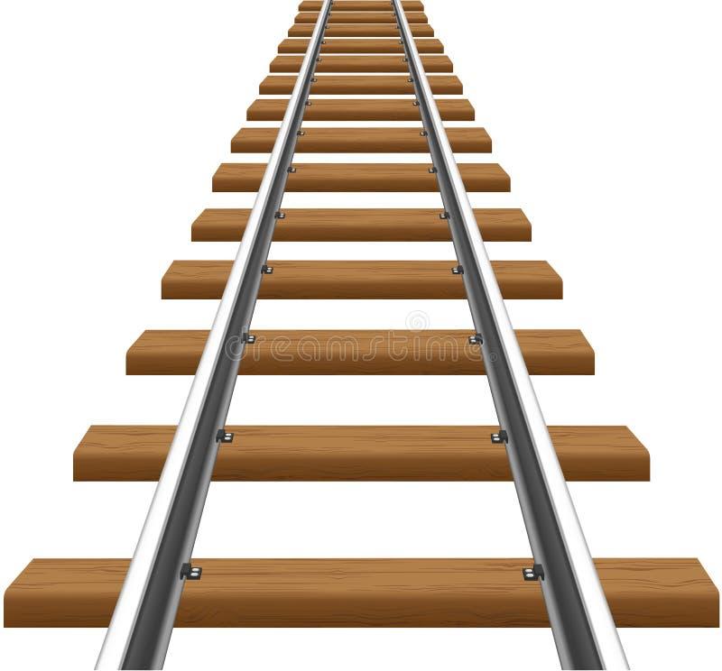 与木睡眠者向量例证的铁路运输 向量例证