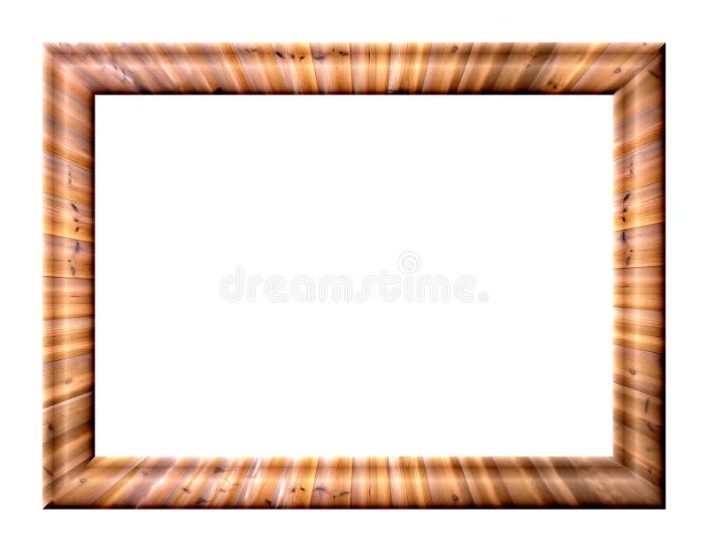与木纹理的框架 库存照片
