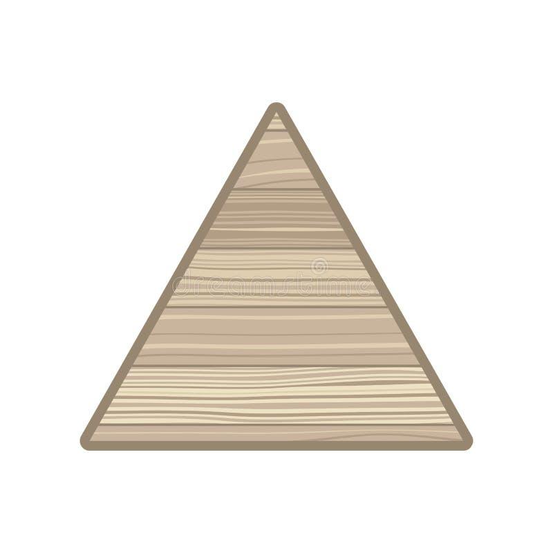 与木纹理被隔绝的象的三角 向量例证