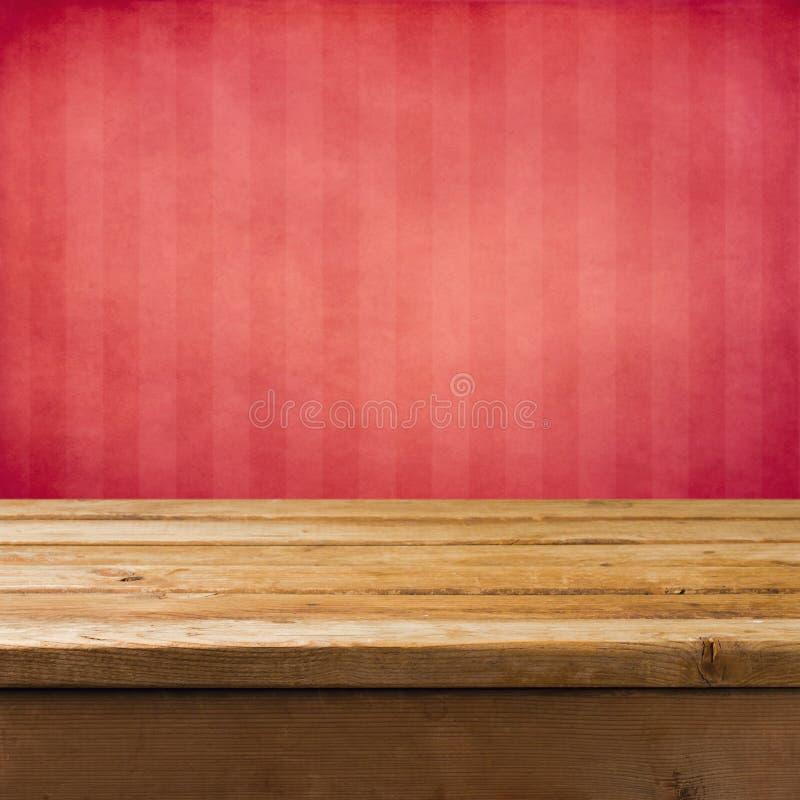 与木表的背景 图库摄影