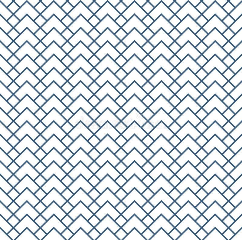 与条纹的几何样式 背景无缝的向量 纹理图表现代样式 皇族释放例证