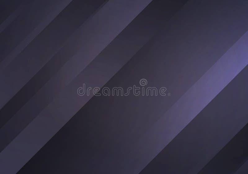 与条纹的抽象黑背景 传染媒介最小的横幅 黑暗的技术光滑纹理 库存例证