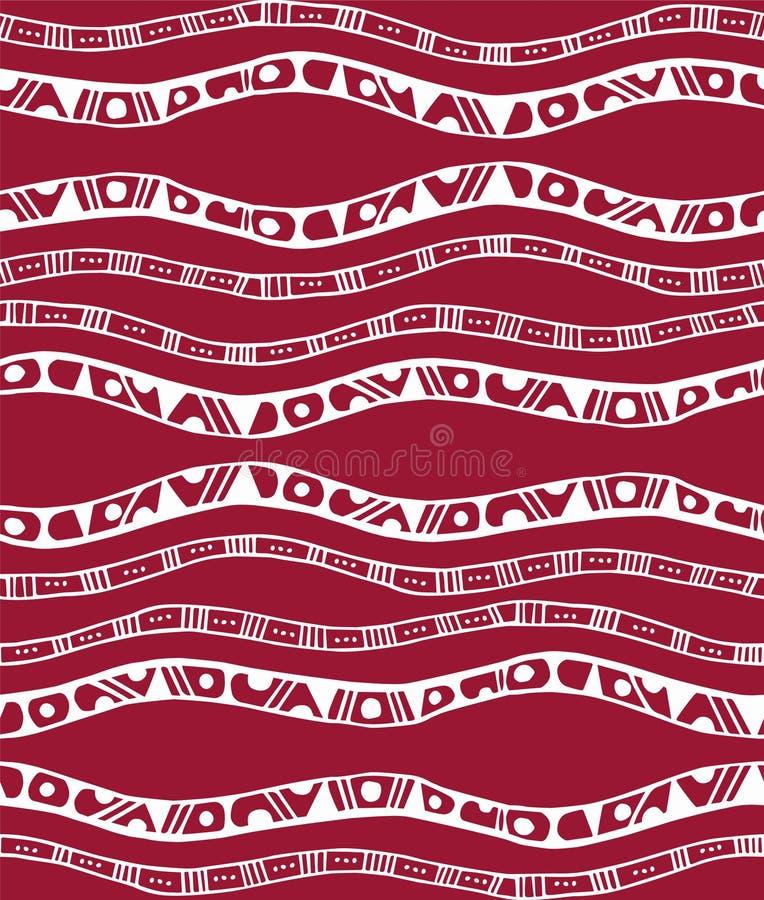 与条纹的无缝的样式在乱画样式 皇族释放例证