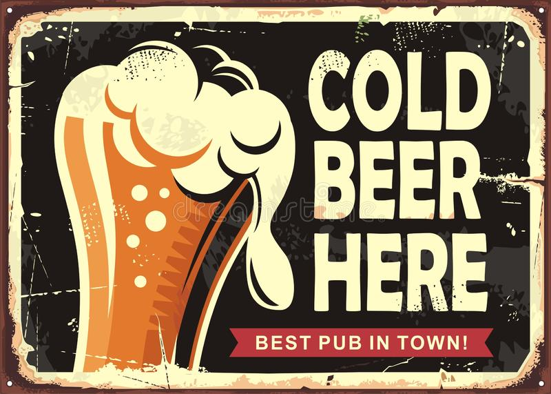 与杯的客栈标志啤酒 皇族释放例证