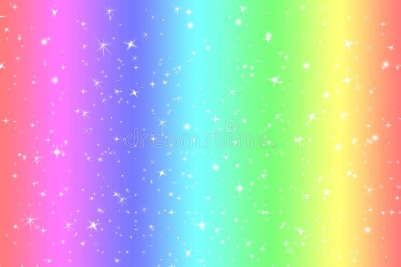 与柔光星的彩虹颜色抽象背景提出了梦想概念背景在甜内容的 彩虹颜色 皇族释放例证