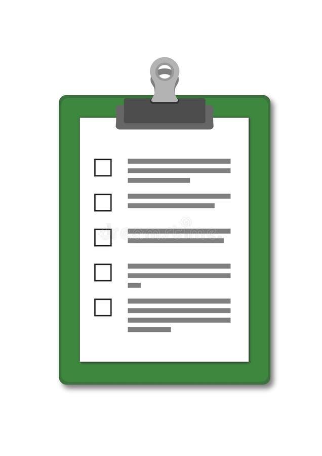 与查询表空白的纸夹板  皇族释放例证