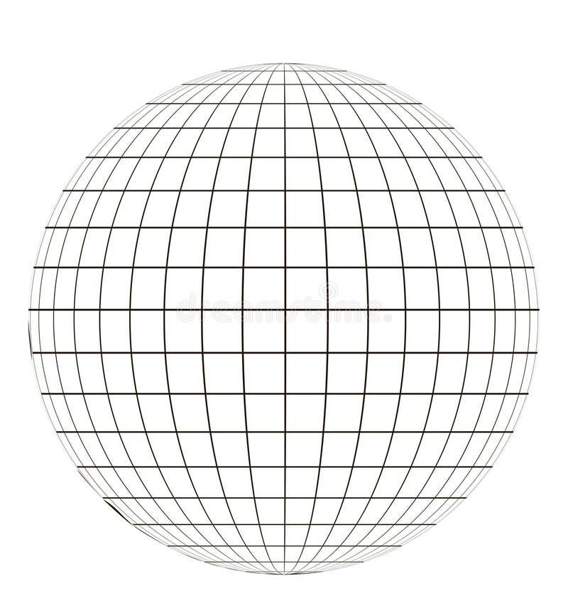 与栅格的地球 向量例证