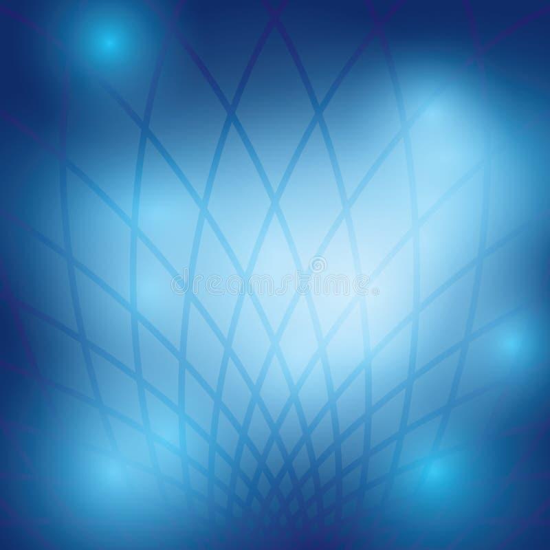 与栅格-抽象的深蓝抽象背景 向量例证