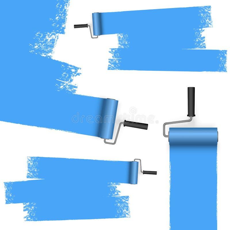 与标号的漆滚筒概念 皇族释放例证