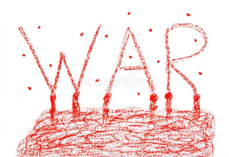 与标志战争的海报 库存照片