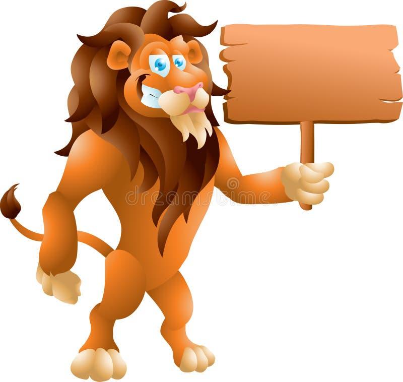 与标志的狮子 库存例证