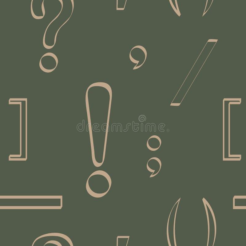 与标点符号的无缝的样式 皇族释放例证