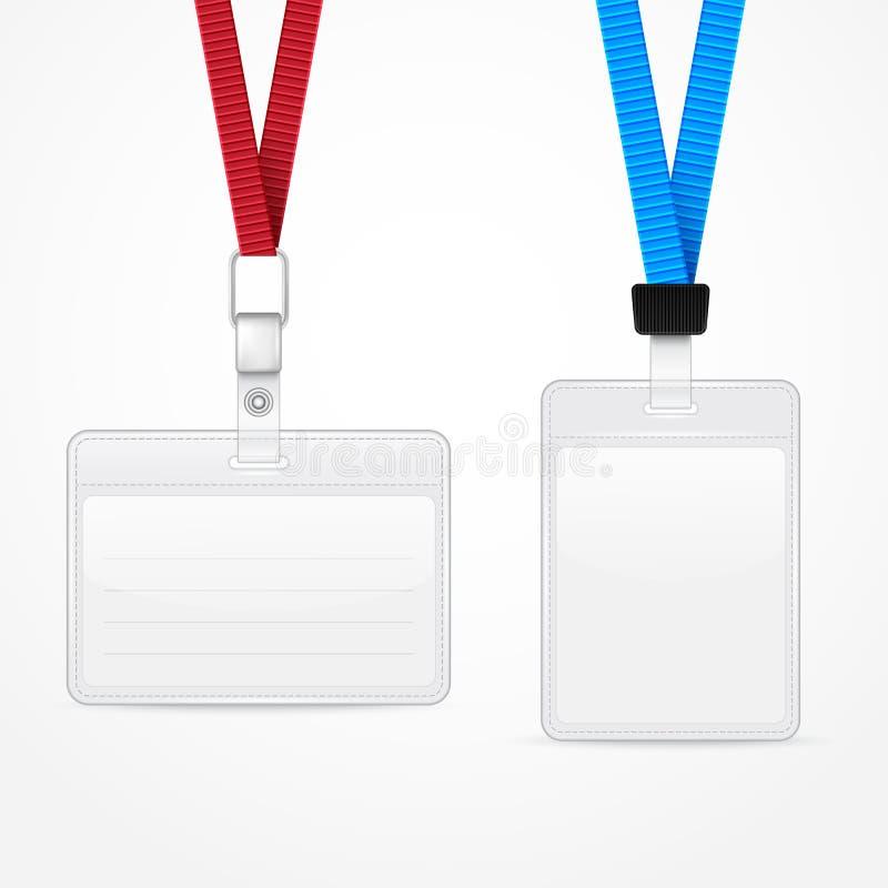 与标签徽章持有人的短绳 向量例证