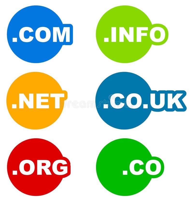 与标签的象网相关服务的 库存例证