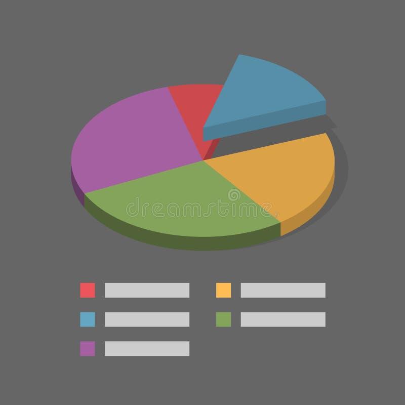与标签的Mininal等量圆形统计图表例证 向量例证