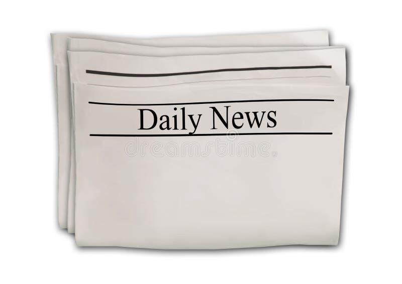 与标题在白色背景隔绝的日日新报的报纸 库存例证
